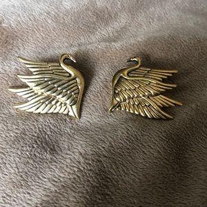 Laurel Burch gold bird earrings
